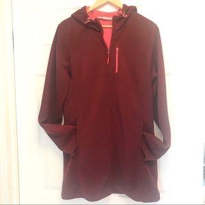 Athleta Swara long fleece hood jacket size XL